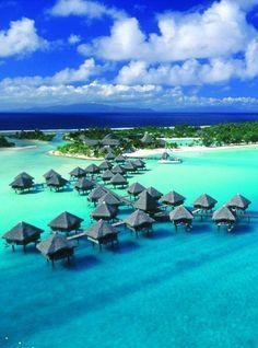 Crossing our fingers that this is where we honeymoon. Bora Bora, French Polynesia