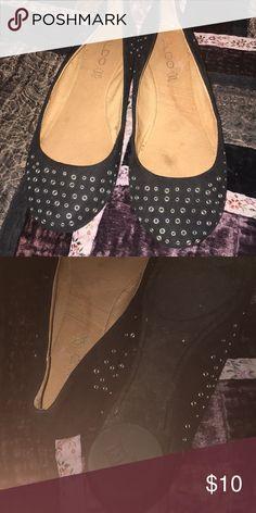 a7ee8d18d5f46c Black Also flats with metal circle designs Aldo Shoes Flats