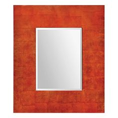 Ren-Wil Andros 34-Inch x 40-Inch Rectangular Mirror in Coral