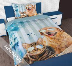 Sleeptime Dekbedovertrek - Kinder - Cool Pets - 140 x 200-220