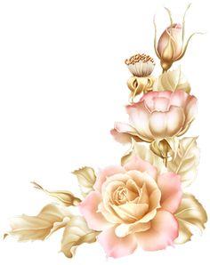 - Blog de OA-ga-KlA-A-ikovA - Skyrock.com Tulips Flowers, Botanical Flowers, Botanical Prints, Paper Flowers, Decoupage Vintage, Vintage Diy, Folk Art Flowers, Vintage Flowers, Flower Art