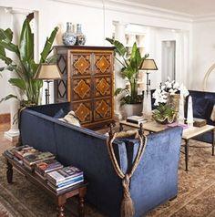 Milano Sofa, Minaya Coffee Table, and El Dorado Floor Lamps all by @ebanistacollect. Interior Design by Steven Autry Interiors. Zapopan Armoire from Ebanista.