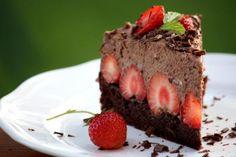 Čokoládovo jahodová torta bez múky, recept, Torty | Tortyodmamy.sk Pie, Food, Torte, Pastel, Meal, Eten, Pies, Meals, Tart