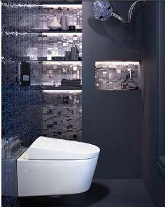 wc design u0026 confortable moderne chic et styl avec des nuances de gris et des clairages small