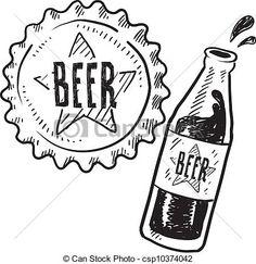 Bottle Cap line drawing | ... line art, EPS picture, pictures, graphic, graphics, drawing, drawings