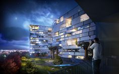 3D Visualization | 3D Render - Hotel Nature on Behance
