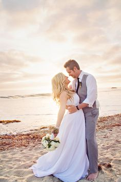 Gorgeous beach wedding photography by shailynn photography