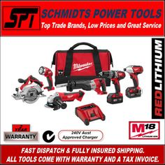 The Milwaukee 6 tool combo kit is a great place to start, for those looking to get into a cordless tool kit.  The tools are tough and proven on the jobsite.  The new red lithium ion batteries are the best in the game.  Check them out, it's worth a look.