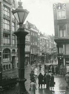Kipstraat gezien vanaf de bordes van de oude stadhuis 1932
