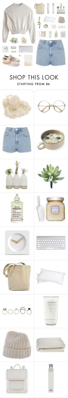"""""""Spotless Mind"""" by discxnnect-ed ❤ liked on Polyvore featuring McCoy Design, Topshop, Maison Margiela, Laura Mercier, LEFF Amsterdam, Grand Down, Iosselliani, PLANT, Shiseido and rag & bone"""