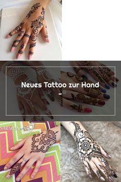 Neues Tattoo zur Hand - Henna Patterns, Hand Henna, Hand Tattoos