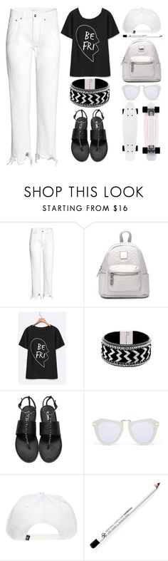 """""""White denim and Yoins off 497"""" by juuliap ❤ liked on Polyvore featuring Karen Walker, Obsessive Compulsive Cosmetics, whitejeans, RetroSunglasses, yoins, yoinscollection and loveyoins"""