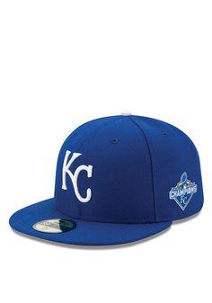 Kansas City Royals 2015 World Series Champ 5950 Royal New Era Fitted Hat
