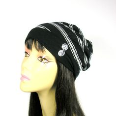 Summer Slouch Hat Lightweight Slouchy Hat Beanies Reversible Beanie Mens Hats Womens Hats Cool Hats Black and White…