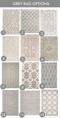 24 Grey Rug Options (Honey We're Home) Decor, Rugs, Rug Options, Grey Rugs, Bedroom Decor, Rugs And Carpet, Home Decor, Floor Coverings, House Interior
