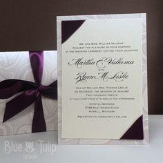 Paisley Jacket Wedding Invitation  with Satin by mybluetulipdesign, $5.75