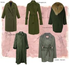 Designer Clothes, Shoes & Bags for Women Isa Arfen, Isabel Marant, Duster Coat, Shoe Bag, Greenery, Polyvore, Jackets, Stuff To Buy, Shopping