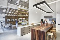 Our Shelving in the new Sam Edelman office. Brass open concept industrial shelving is a good look!