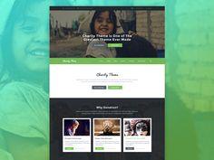 Charity Website Design by Masum Rana 