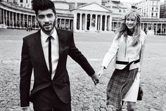 Gigi Hadid and Zayn Malik by Mario Testino for Vogue US May 2016