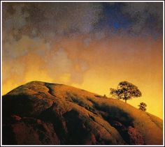 """November 22, 2016 letter, ELEMENTS OF FORM, """"The shaping of form is one area where many artists get into trouble. In the old days students were encouraged to paint and draw cones, pyramids..."""", (""""Cobble Hill""""  by Maxfield Parrish (1870-1966))"""