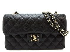 Chanel Caviar 2.55 Double Flap Classic 23cm Shoulder Bag. Get one of the hottest styles of the season! The Chanel Caviar 2.55 Double Flap Classic 23cm Shoulder Bag is a top 10 member favorite on Tradesy. Save on yours before they're sold out!