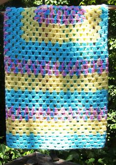 Crochet Baby Blanket Baby Afghan Turquoise by sweetpeacollections
