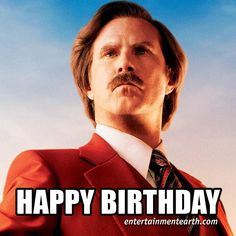 Happy 47th Birthday to Will Ferrell of #Anchorman!