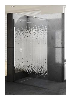 Paroi de douche Fixe KUADRA serigraphié - KUADH80-51K - Plomberie sanitaire chauffage Glass Sticker Design, Glass Film Design, Washroom Design, Bathroom Interior Design, Glass Shower Doors, Glass Door, Vinyl On Glass, Douche Design, Corner Furniture