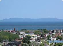 Thunder Bay, Ontario, Canada - Looking across the bay at the Sleeping Giant