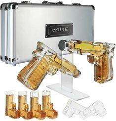 Whiskey Decanter, Whiskey Glasses, Whisky, Alcohol Bottles, Liquor Bottles, Vodka Shots, Shot Glass Set, Drinking, Revolver