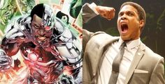 "Ray Fisher as Cyborg in ""Batman vs Superman"""