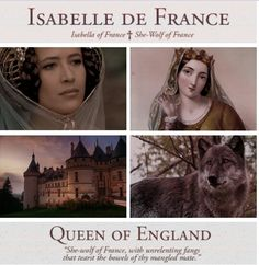 #Isabelle de France (1295 – 22 August 1358), sometimes described as the She-Wolf of France, was Queen of England as the wife of Edward II. She was the youngest surviving child and only surviving daughter of Philip IV of France and Joan I of Navarre. Queen Isabella was notable at the time for her beauty, diplomatic skills, and intelligence.