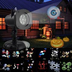 Holiday Projector Lights,Bagvhandbagro Halloween Christmas Projector Lights with 12 Switchable Pattern Lens Led Landscape Spotlight,Waterproof Lights for Christmas Halloween Holiday Home Decoration *** You can find out more details at the link of the image. (This is an affiliate link) #EasyHomeDecor