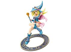 Collectible figure of Dark Magician Girl from the anime series Yu-Gi-Oh!. Figure made of PVC material, 21 cm tall (scale of 1/7), by Max Factory.