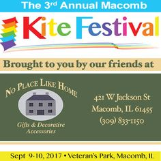 """For the second year in a row, the good women at """"No Place Like Home"""" gifts & decor have helped us bring this festival to our community. We're very blessed to have such support! Kite, Home Gifts, Bring It On, Blessed, Community, Decor, Women, Decorating, Women's"""