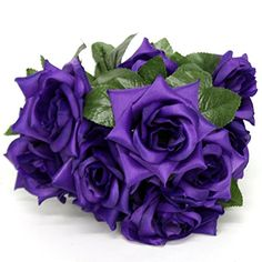 "19"" Satin Diamond Rose 10 Flowers (Purple) AtoZ Online LLC http://www.amazon.com/dp/B00X4Q1ZL0/ref=cm_sw_r_pi_dp_osOsvb1B0MHV0"
