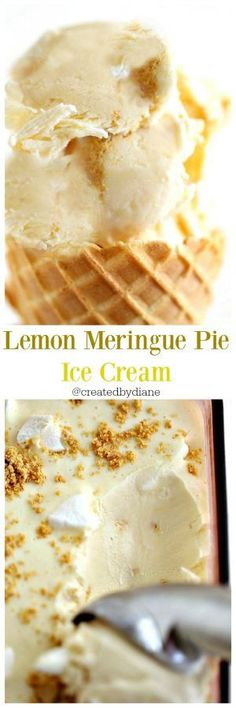 lemon meringue pie ice cream no churn, easy 5 minutes to mkae