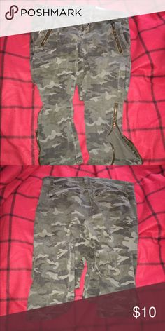 Army fatigue pants Good Jeans Straight Leg