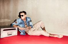 Model Stephen James for Theo Wormland by Felix Kruger