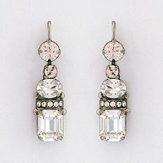 Sorrelli's Snow Bunny Earrings at Perfect Details.  Vintage inspired crystal square drop earrings in clear & champagne crystals.  Gorgeous for brides & bridesmaids, fabulous for nights out & formal affairs.