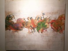 #everydayart #art #NaoyaOshima #bird #大嶋直哉 さんの作品 @酉トリドリ展色のセンスがとても好きです伊藤忠青山アートスクエアにて1/15(日)まで#1日1アート