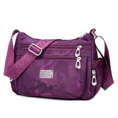Sale 24% (19.33$) - Waterproof Women Nylon Casual Crossbody Bag Travel Shoulder Bag