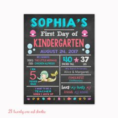 First Day of School Sign Back to School Chalkboard Sign