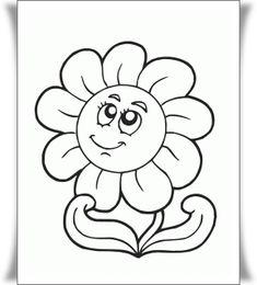 Çiçek Boyama Resimleri
