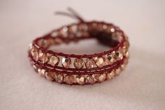 Cool wrap bracelet to make - simple!
