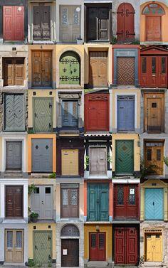 Ports from Visby, Sweden (Samla bilder på dörrar, skriv ut och gör kollage)
