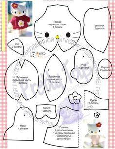HELLO KITY  Maos que Criam by Maria Luiza: Feltro e moldes