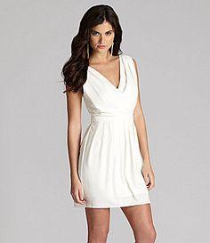 Gianni Bini Shelly Pleated Lace-Back Dress | Dillards.com