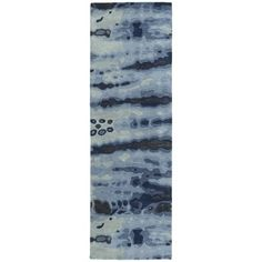 Shop for Hand-tufted Artworks Denim Tie-dye Rug (2'6 x 8'). Get free shipping at Overstock.com - Your Online Home Decor Outlet Store! Get 5% in rewards with Club O! - 16689686